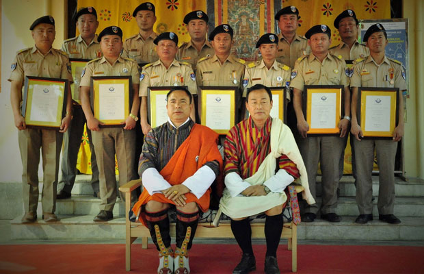 BHUTAN: Group photo of Hon. Finance Minister and Hon. Finance Secretary together with the Customs Officials who were awarded WCO Certificates of Merit on the occasion of the International Customs Day 2017.