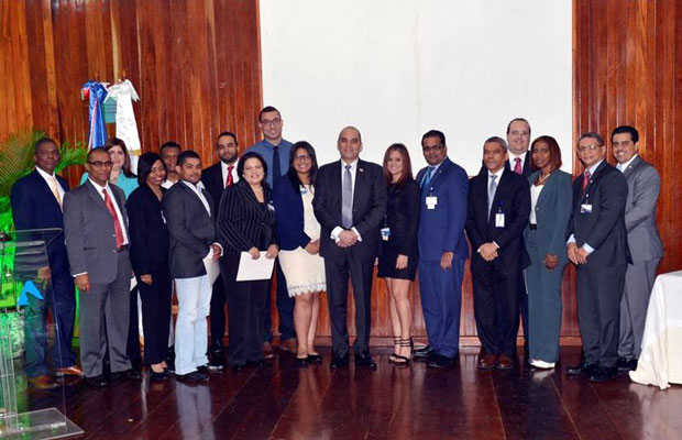 DOMINICAN REPUBLIC: Mr. Enrique A. Ramirez Paniagua, Director General of Customs, Mr. Eduardo Rodriguez, Adviser to the Director General and Mr. Gabino Polanco, Deputy Technical Director of Customs, together with Customs officers who were awarded for their efforts on the occasion of ICD 2017.