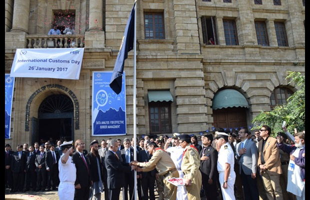 PAKISTAN: Flag hoisting ceremony on International Customs Day 2017 at the Model Customs Collectorate in Karachi.