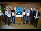SWITZERLAND: On the occasion of International Customs Day 2017, Swiss Customs Deputy Director General Hans Peter Hefti awarded WCO Certificates of Merit on 24 January 2017 to four officials for their outstanding work in the field of data analysis. From left to right: Andrea Canonica, Andrea Schmid, Urs Christen, Guido Ritz, Mathias Baudenbacher, Alain Martinal, Hans Peter Hefti, and Anna Kobel.