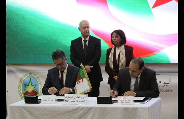 "ALGERIA : Projection towards a digital future, with the signature of two technical assistance contracts for the implementation of the new Customs information system, giving effect to the ICD 2019 ""SMART borders"" theme in Algeria; the starting point for building a future together."