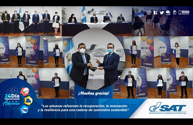 "GUATEMALA : Guatemala Customs (SAT) held ICD 2021 celebrations and some Customs officials were awarded WCO Certificates of Merit for their contribution to the ""Recovery, Renewal, Resilience"" theme against the difficult backdrop of the COVID-19 pandemic."