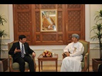 Mr. Kunio Mikuriya, WCO Secretary General is meeting with Mr. Sultan bin Salim Al-Habsi, Secretary General of the Supreme Council for Planning, Oman.