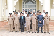 WCO Secretary General Kunio Mikuriya with Oman Customs Director General, Issa bin Saeed Alkumy, and his team