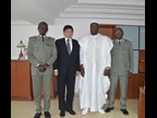 Mr. Mikuriya also met Mr. Cissé, the Budget Minister and former Director General of Senegal Customs (third from the left on the photo)