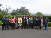 Commissioner General of the Lesotho Revenue Authority with workshop participants and facilitators