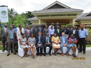 Mr. John Biziwick, facilitators and participants at the WCO LMD Workshop Mangochi, Malawi – March 2014