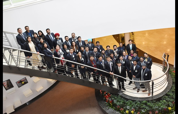 First group of trainees from the Indian Revenue Service with WCO Secretary General Kunio Mikuriya on 6 February 2018