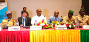 From left to right:  Toumany Sangaré, Director General of Guinea Customs, Kunio Mikuriya, WCO Secretary General, Abdoulaye Magassouba, Guinea's Minister of Mines and Geology, and Pierre Alphonse Da, Director General of Côte d'Ivoire Customs and Regional Vice-Chair