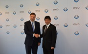 Dr. Kunio Mikuriya, WCO Secretary General, and Mr. Valdis Dombrovskis, Vice-President of the European Commission responsible for the Euro and Social Dialogue