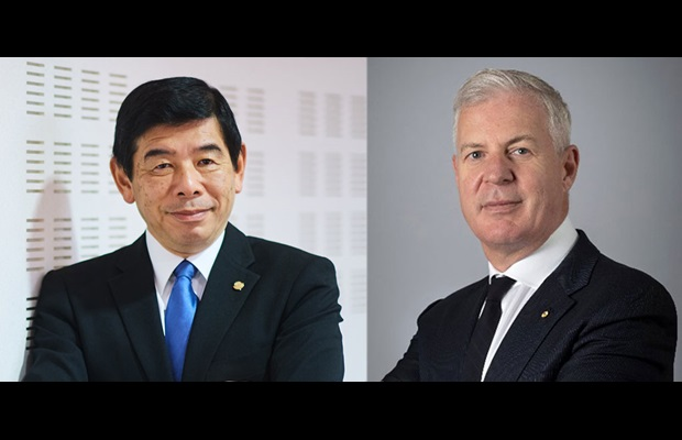 WCO Secretary General Kunio Mikuriya and ICC Secretary General John W.H. Denton AO