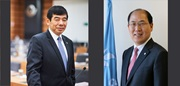 WCO Secretary General Kunio Mikuriya and IMO Secretary General Kitack Lim