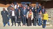 Group photo: Commissioner of Customs Mrs. Makali Lepholisa, Chief HR Mrs. Mphamo Tente, facilitators and participants at the WCO LMD Workshop Thaba-Bosiu, Lesotho – July 2014.