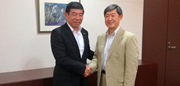 WCO Secretary General Kunio Mikuriya and JICA President Shinichi Kitaoka