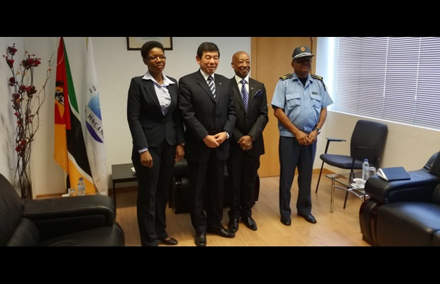 From left to right: MRA's President Amelia Nankhar, WCO Secretary General Kunio Mikuriya, SARS Commissioner General Thomas Moyane, and MRA's Director General Aly Malla