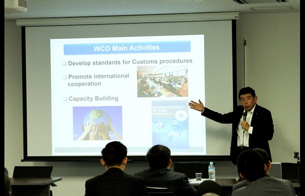 WCO SG during his lecture to the WCO scholars at the National Graduate Institute for Policy Studies (GRIPS), in Tokyo