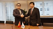 WCO Secretary General Mr. Kunio Mikuriya and First Deputy Chairman from Kyrgyz Customs Mr. Shamil Berdaliev