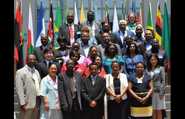 Group photo: Workshop on Rules of Origin for the WCO East and Southern Africa (ESA) region in Pretoria, South Africa