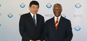Secretary General Mikuriya and former South African President Thabo Mbeki meet to discuss the role of Customs in Africa