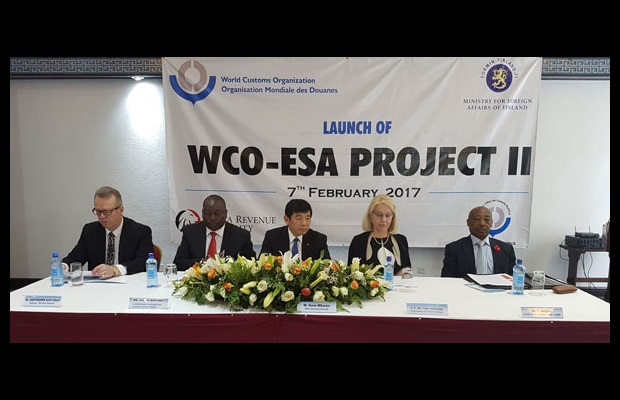 From left to right: Mr. Antti Hartikainen, Director General, Finnish Customs; Mr. Julius Musyoki, Commissioner, Kenya Revenue Authority Customs and Border Control; Dr. Kunio Mikuriya, WCO Secretary General; H.E. Ms. Tarja Fernandez, Ambassador of Finland to Kenya; Mr. Tom Moyane, Commissioner, South African Revenue Service.