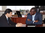 WCO Secretary General Kunio Mikuriya and Commissioner General Alphayo Kidata of the Tanzania Revenue Authority (TRA)
