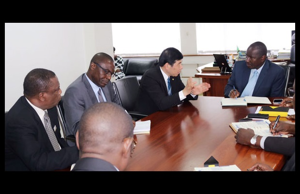 WCO Secretary General and Commissioner General during a meeting with TRA's senior management