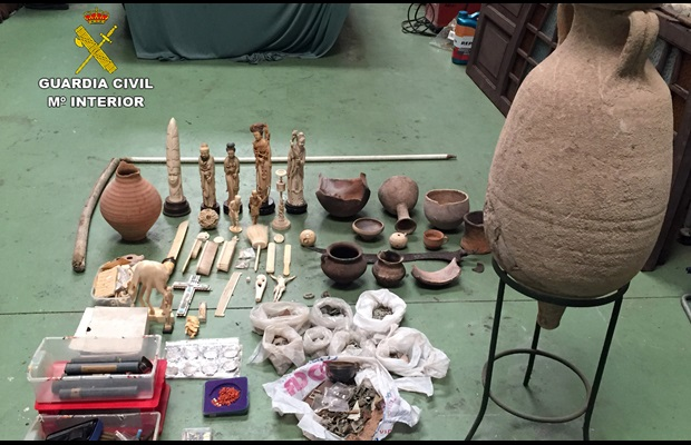 In just one investigation in Spain, the Guardia Civil seized more than 2,000 cultural objects, the majority of which were coins from the Roman and other Empires.