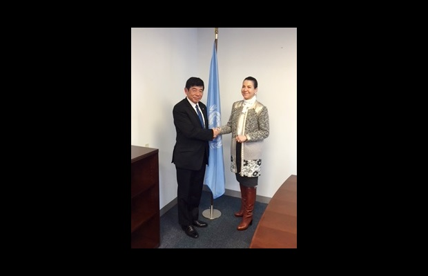 WCO Secretary General Kunio Mikuriya discussed with CTED Executive Director Ms. Michelle Michèle Coninsx synergies and complementarities between the work of various UN bodies and the WCO