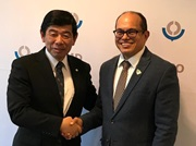 The WCO Secretary General, Dr. Kunio Mikuriya, and the Executive Secretary of the Basel, Rotterdam and Stockholm Conventions, Dr. Rolph Payet