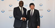 WCO SG Kunio Mikuriya and Hon. Alan Kerematen at the occasion of their meeting on 26 February 2020 at WCO Headquarters