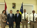 WCO SG with Prime Minister of Curaçao and members of Customs management team