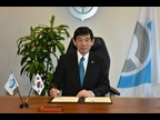 WCO Secretary General, Dr. Mikuriya, during the signature of the MoU