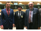 From left to right: Mr. Larijs Martinsons, the current Chairperson of the CUG, Mr. Kunio Mikuriya, WCO Secretary General, and Mr. Heinz Zourek, Director General of TAXUD