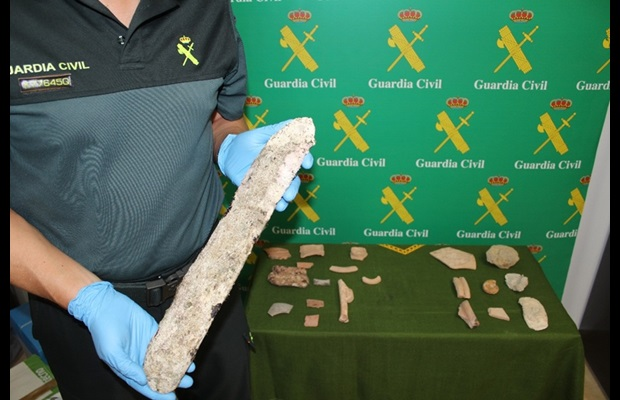 Seizure of archeological objects made by Spanish Guardia Civil