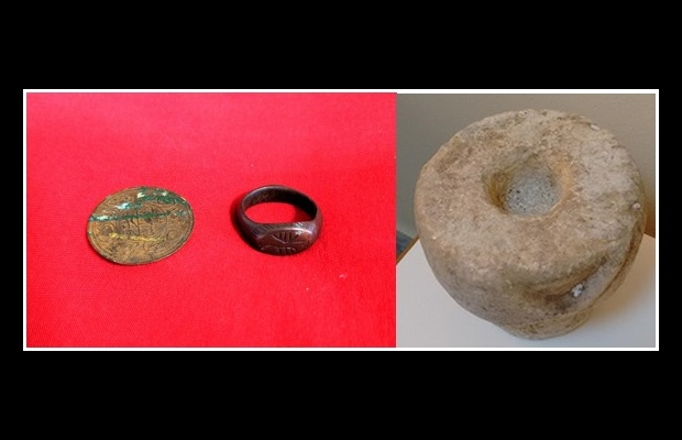Seizure of a part of a marble Ottoman tombstone and two Byzantine artifacts by Greek police