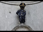 Manneken Pis with the new Customs Uniform unveiled on the occasion of the International Customs Day