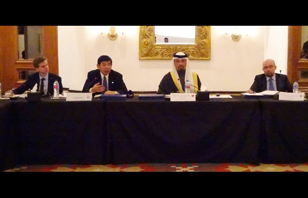 Mr. Kunio Mikuriya, WCO Secretary General and Mr. Ahmed Al Khalifa, President of Bahrain Customs and WCO Vice-Chair of the WCO MENA region during the WCO MENA Regional Meeting