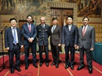Celebration of ICD by Belgium Customs at the Brussels City Hall. From left to right: Taeil Kang, WCO Director of Capacity Building; Ricardo Treviño Chapa, WCO Deputy Secretary General; Kristian Vanderwaeren, Belgium General Administrator of Customs and Excise; Kunio Mikuriya, WCO Secretary General; Ping Liu, WCO Director of the Tariff and Trade Affairs Directorate; Pranab Kumar Das, WCO Director of Compliance and Facilitation