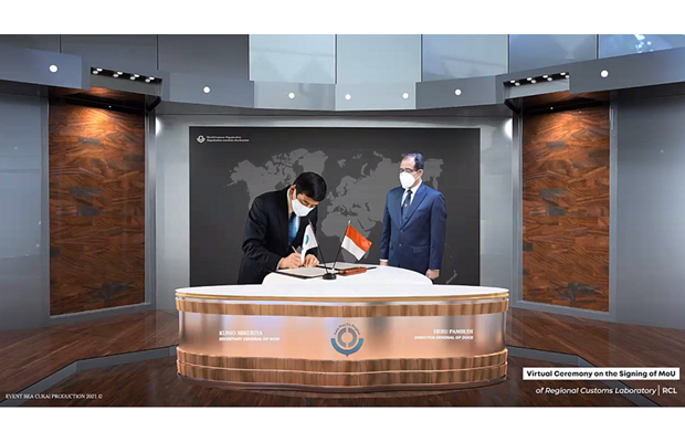 Online signing ceremony on the establishment of a WCO Regional Customs Laboratory in Indonesia