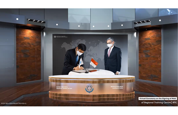 Online signing ceremony on the establishment of a WCO Regional Training Centre in Indonesia