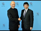 Secretary General Kunio Mikuriya at the meeting with the WTO Director General, Pascal Lamy