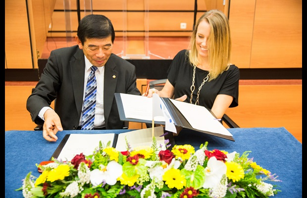 On 15 July 2016, the WCO, represented by its Secretary General Kunio Mikuriya, signed a Memorandum of Understanding (MOU) with the Smithsonian Institution, the world's largest museum, education and research complex, represented by the Director of the Office of International Relations and Global Programmes, Ms Molly Fannon.