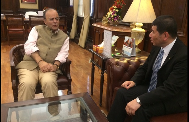 Dr. Mikuriya and India's Minister of Finance, Mr. Jaitley