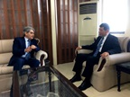 Chairman of the Federal Board of Revenue, Pakistan, Mr. Tariq Mahmoud Pasha, while discussing with WCO Secretary General Kunio Mikuriya