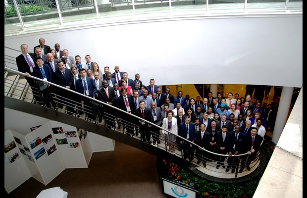 Group photos at the WCO Global Conference on Transit