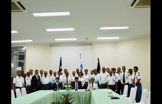 Here with the Director General of Customs and Customs officials of Timor-Leste