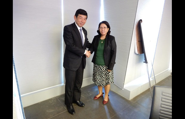 Dr. Mikuriya also met with Ms. Sara Lobo Brites, Acting Minister of Finance