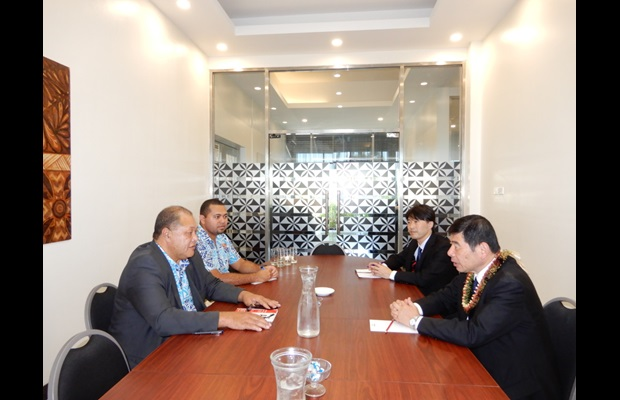 Dr. Mikuriya also met with Mr. Kelemete Vahe, Chief Executive Officer (CEO) of the Ministry of Revenue and Customs, and Mr Michael Cokanasiga, Head of Customs