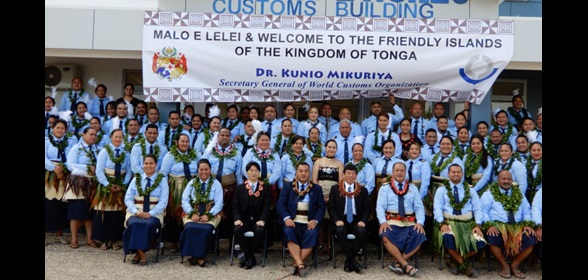 WCO Secretary General Mikuriya at the welcome ceremony organized by Tonga Customs