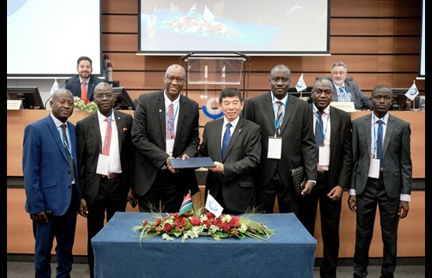 Council delegates witnessed Gambia deposit its instrument of accession to the Harmonized System Convention